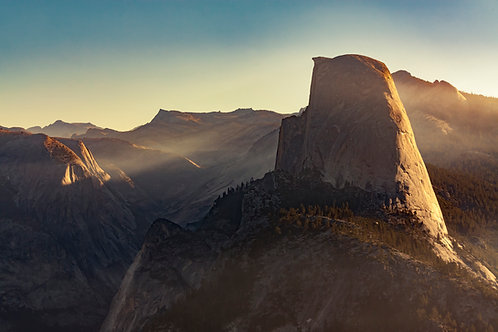 First Light at Half Dome
