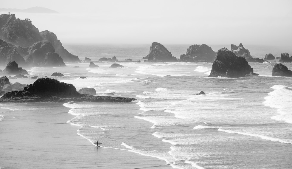 Surfer //  Ecola State Park, OR