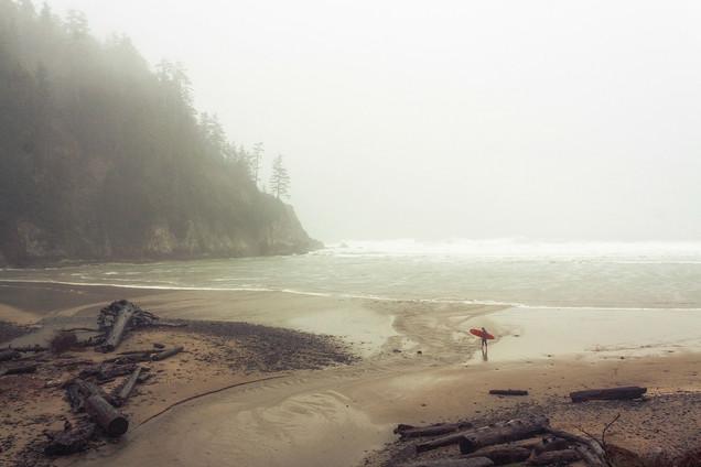 Rainy Surfer // Smuggler's Cove, OR
