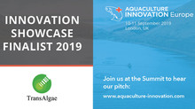 TransAlgae was selected to present as part of the Innovation Showcase at  2019 Aquaculture Innovatio