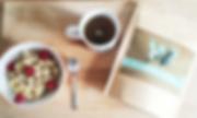 Petit déjeuner idéal thé lettre cuillère