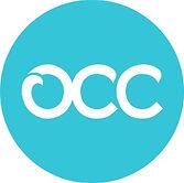 logomarca OCC com fundo azul