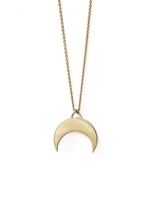 Plain Moon Necklace