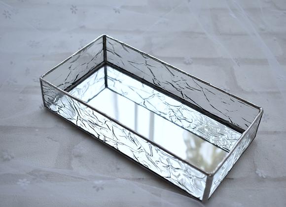 ステンドグラスのミラートレイ(大)