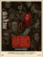 Limited edition poster for David Cronenberg's Rabid starring Marilyn Chambers