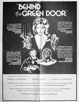 Rare promotional poster for Behind the Green Door starring Marilyn Chambers