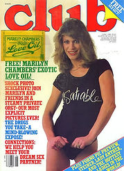 Marilyn Chambers on the cover of Club Magazine, 1981
