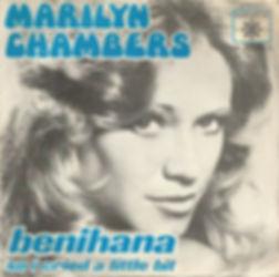 "European picture sleeve for Marilyn Chambers' 1976 disco single ""Benihana"""