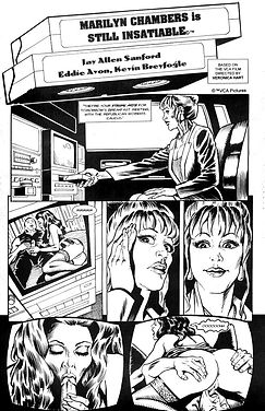 Carnal Comics' version of Marilyn Chambers in Still Insatiable, 1999