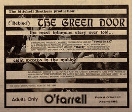 Advertisement for the original release of Behind the Green Door starring Marilyn Chambers