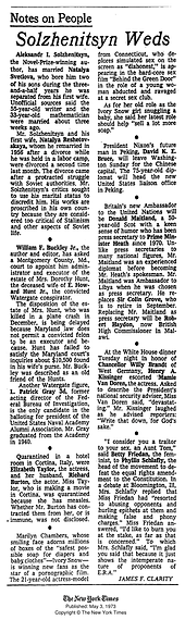 Original New York Times article about Marilyn Chambers' and the Ivory Snow scandal, 1973