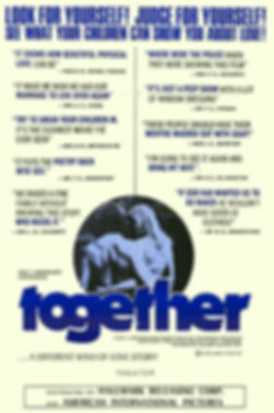 "One sheet for the film ""Together"" starring Marilyn Chambers, 1971"