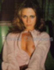 "Marilyn Chambers promoting her single ""Benihana"" in Discoworld magazine, 1977"