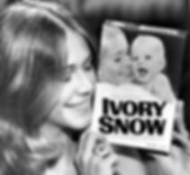 Marilyn posing with the Ivory Snow box that made her a star, 1973