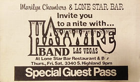 Rare ticket to a Las Vegas show by Marilyn Chambers' country band Haywire