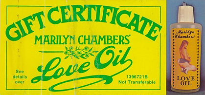 Marilyn Chambers' Love Oil, 1980s