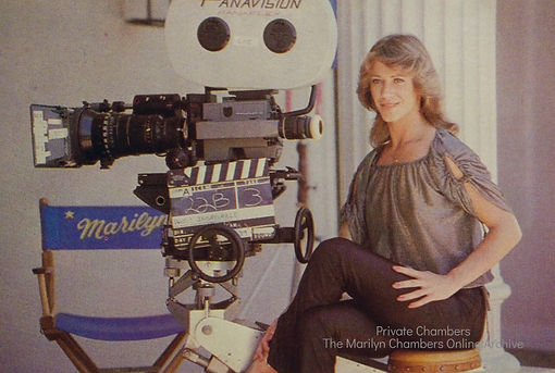 Marilyn Chambers on the set of Insatiable, 1980