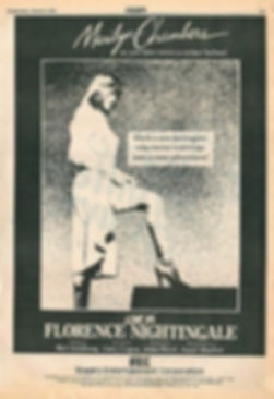 Variety ad for Love Ya' Florence Nightingale starring Marilyn Chambers, 1983