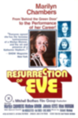 One sheet poster for Resurrection of Eve starring Marilyn Chambers, 1973