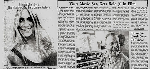 Early article about Marilyn Chambers getting a role in The Owl and the Pussycat