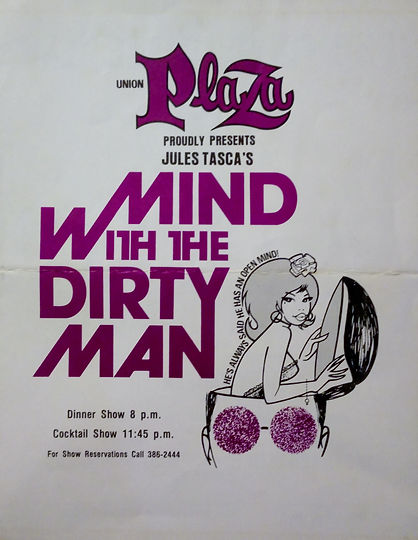 Program for Mind with the Dirty Man starring Marilyn Chambers, Union Plaza, Las Vegas, 1975