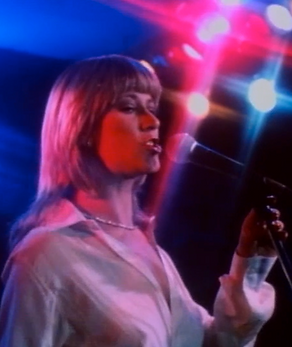 "Marilyn Chambers performs with her country band Haywire in the film ""Up 'n' Coming,"" 1983"