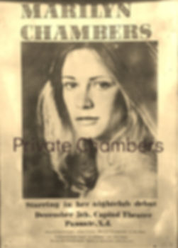 Rare poster for Marilyn Chambers' nightclub debut, 1973/1974