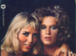 Xaviera Hollander and Marilyn Chambers on the cover of their book Xaviera Meets Marilyn Chambers, 1976