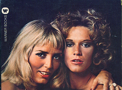 Marilyn Chambers & Xaviera Hollander on the cover of their book Xaviera Meets Marilyn Chambers, 1976
