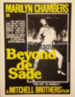 Marilyn Chambers in Beyond de Sade and Never a Tender Moment, 1979