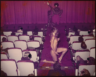 Marilyn Chambers performing at the Mitchell Brothers' O'Farrell Theatre, San Francisco, 1979