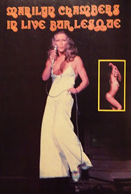 Men's magazine piece showcasing Marilyn Chambers' nightclub revue, 1974