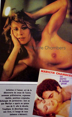 French advertisement for Sensual Secrets by Marilyn Chambers