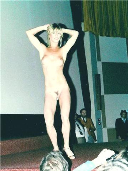 Marilyn Chambers performs her erotic strip show, circa 1980