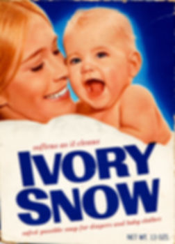 Marilyn Chambers on the cover of Procter & Gamble's Ivory Snow box, 1972