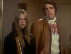 "Marilyn Chambers and Robert Klein in ""The Owl and the Pussycat,"" 1970"