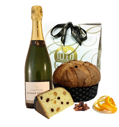 Confezione Panettone e Champagne