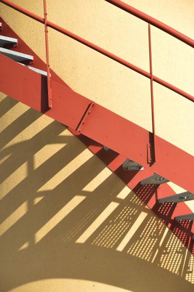 Escalier et garde-main thermolaqués