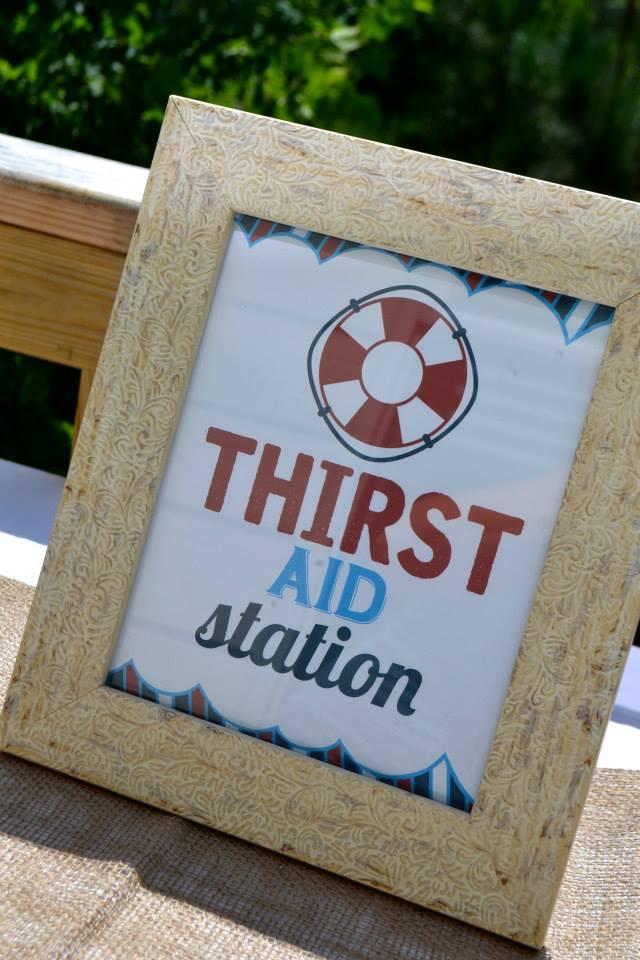 Drink Station Sign