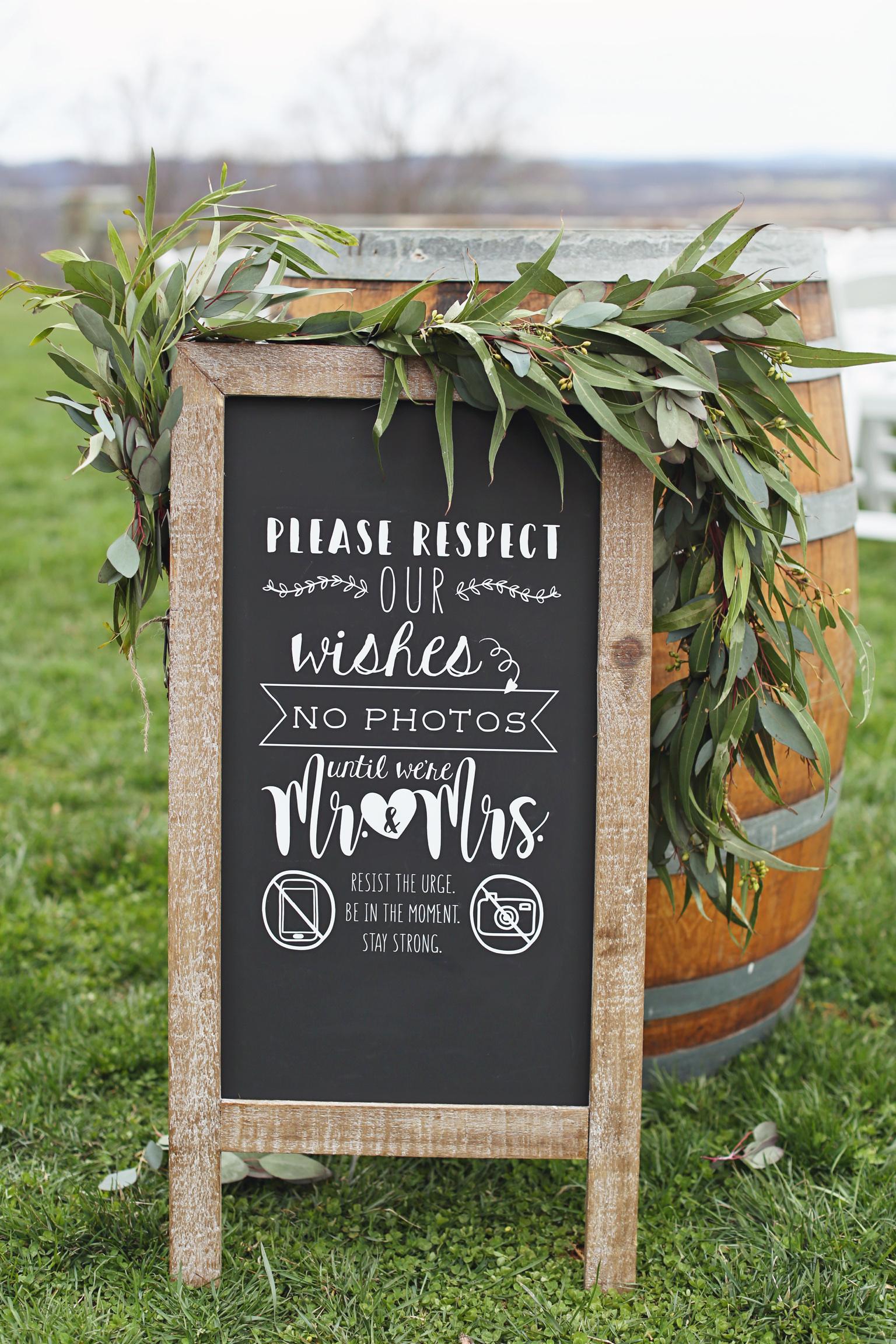 Custom Chalkboard Wedding Sign