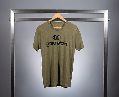 Greenstain Logo Tri-Blend T-Shirt Green/Black
