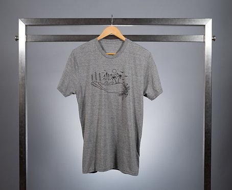 Nature's Hand Tri-Blend T-Shirt Grey/Black