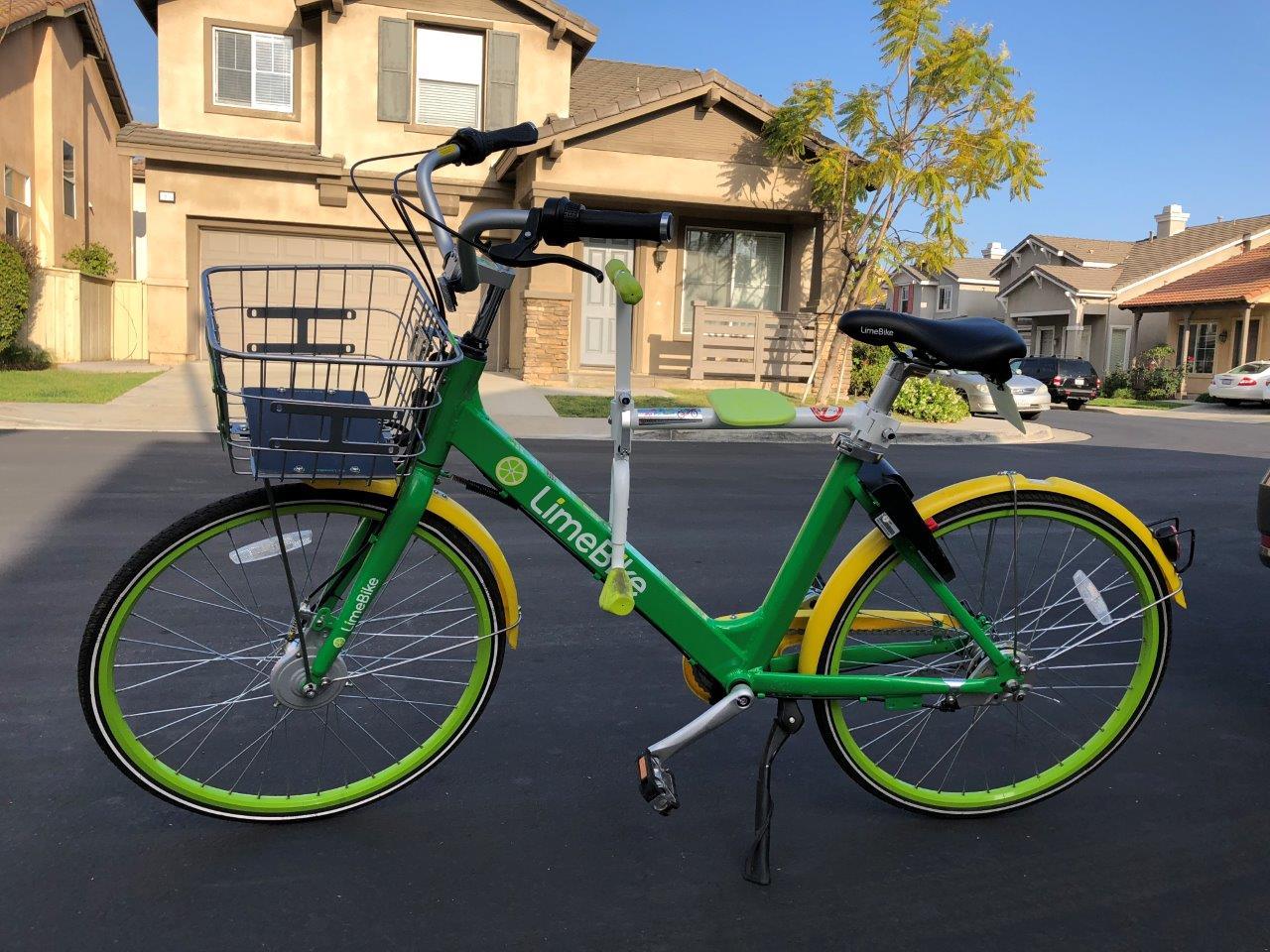 趴趴坐腳踏車兒童坐椅在美國 - LimeBike