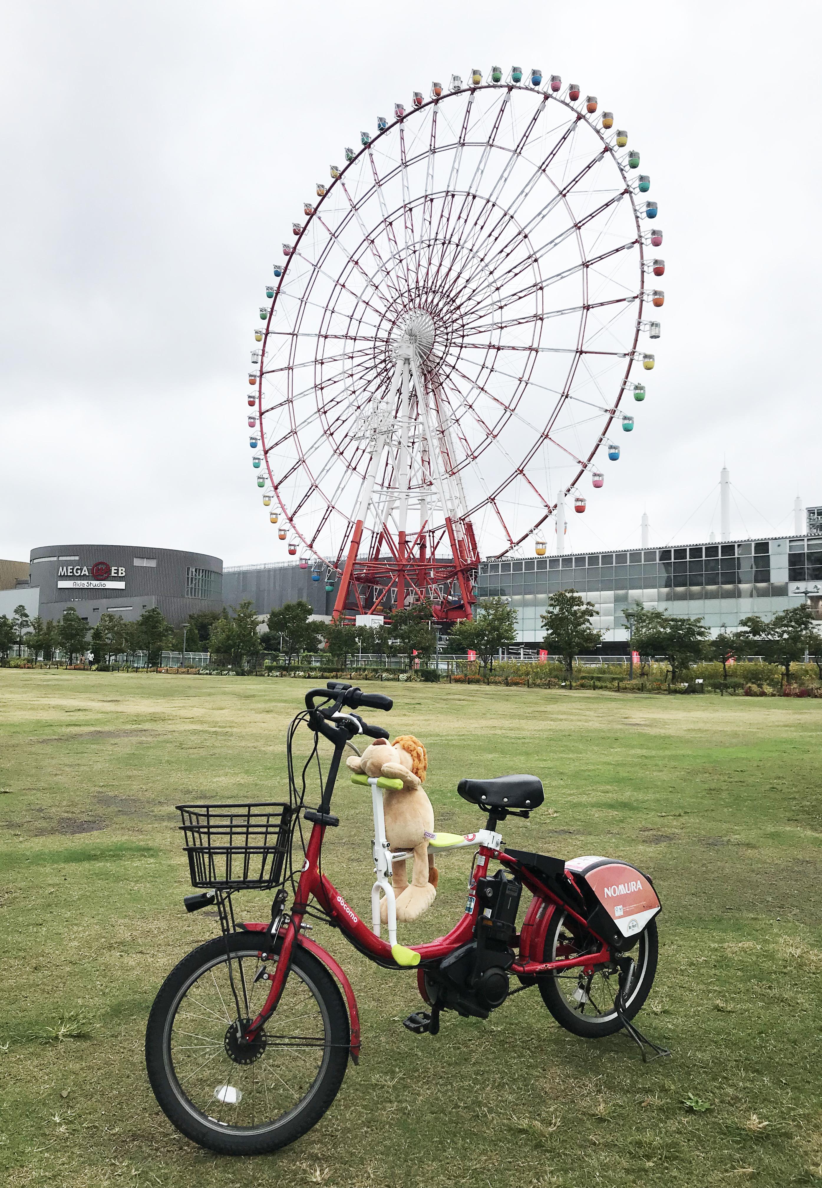 趴趴坐腳踏車兒童坐椅在東京