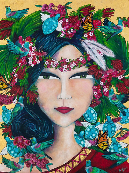 Limited Edition Print: Princess and the Tui Birds