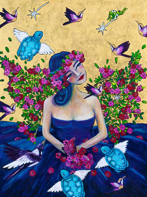 Limited Edition Print: Lady and Her Magpie