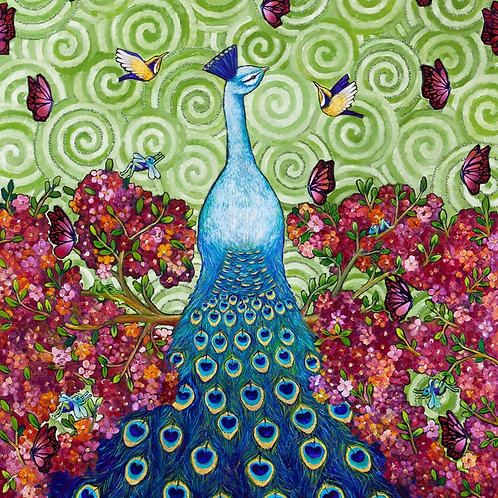 Limited Edition Print: A Peacock