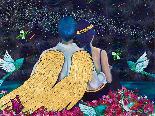 Limited Edition Print: Angel and a Princess