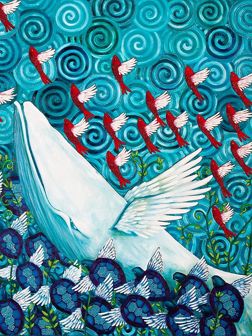 Limited Edition Print: Whale Rising
