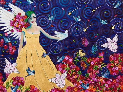 Limited Edition Print: Our Angel In The Garden